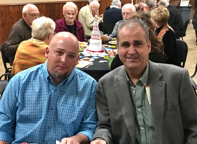 Recipient Mike Hulen and Donor Jason Justiss